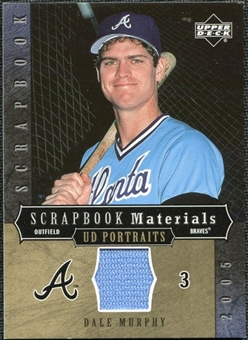 2005 Upper Deck UD Portraits Scrapbook Materials #DM Dale Murphy Jersey