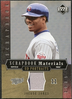 2005 Upper Deck UD Portraits Scrapbook Materials #JJ Jacque Jones Jersey