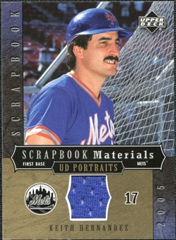 2005 Upper Deck UD Portraits Scrapbook Materials #KH Keith Hernandez Jersey