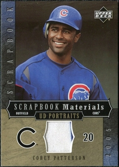 2005 Upper Deck UD Portraits Scrapbook Materials #PA Corey Patterson Jersey