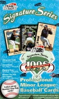 1998 Team Best Signature Series Minor League Baseball Hobby Box