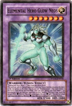 Yu-Gi-Oh Strike of Neos 1st Ed. Single Elemental Hero Glow Neos Ultra Rare - SLIGHT PLAY (SP)