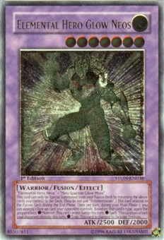 Yu-Gi-Oh Strike of Neos Single Elemental Hero Glow Neos Ultimate Rare