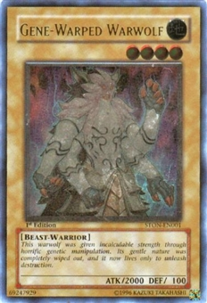 Yu-Gi-Oh Strike of Neos 1st Ed. Single Gene-Warped Warwolf Ultimate Rare - SLIGHT PLAY (SP)