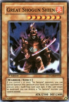 Yu-Gi-Oh Strike of Neos Single Great Shogun Shien Super Rare