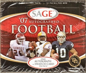 2007 Sage Autographed Football Hobby Box
