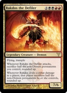Magic the Gathering Dissension Single Rakdos the Defiler Foil