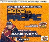 2002/03 Pacific Hockey Hobby Box
