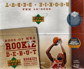 2006/07 Upper Deck Rookie Debut Basketball 28 Pack Box