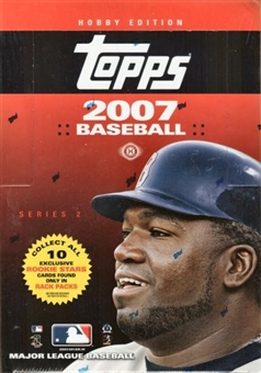 2007 Topps Series 2 Baseball Rack Box