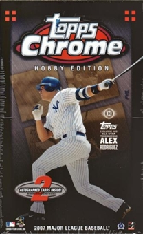 2007 Topps Chrome Baseball Hobby Box