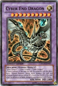 Yu-Gi-Oh Strike of Neos Single Cyber End Dragon Super Rare PROMO (STON-ENSE1)