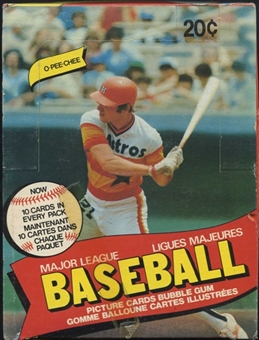 1980 O-Pee-Chee Baseball Wax Box