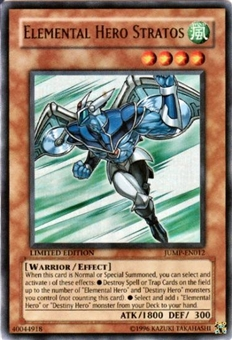Yu-Gi-Oh Promo Single Elemental Hero Stratos Ultra Rare (JUMP-EN012) - SLIGHT PLAY (SP)