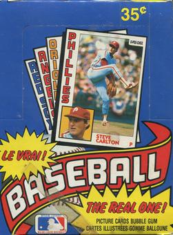 1984 O-Pee-Chee Baseball Wax Box