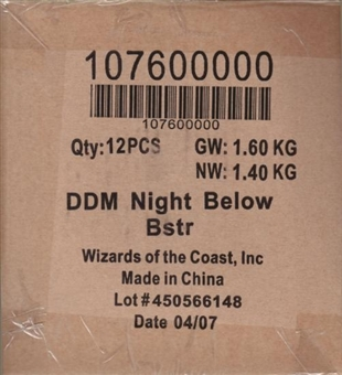 WOTC Dungeons & Dragons Miniatures Night Below Booster Case (12 ct.) 10760