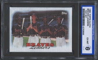 1988 Topps Cloth Baseball Braves Leaders ISA 6 (EX-MT) *3056 (Test Set)