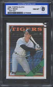 1988 Topps Cloth Baseball Billy Bean ISA 8 (NM-MT) *3058 (Test Set)