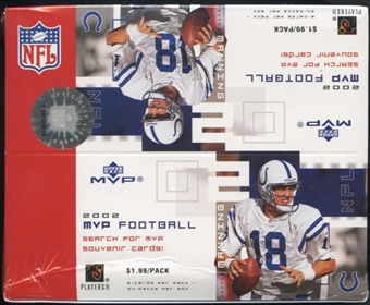 2002 Upper Deck MVP Football 24 Pack Box