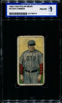 1909-11 T206 Polar Bear Peter O'Brien ISA 1 (PR-FR) *8474