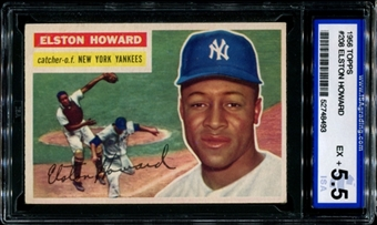 1956 Topps Baseball #208 Elston Howard ISA 5.5 (EX+) *8493