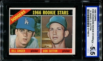 1966 Topps Baseball #288 Don Sutton Rookie ISA 5.5 (EX+) *8515