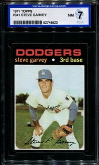 1971 Topps Baseball #341 Steve Garvey Rookie ISA 7 (NM) *8523