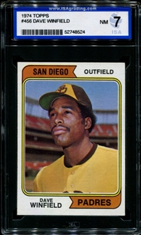 1974 Topps Baseball #456 Dave Winfield Rookie ISA 7 (NM) *8524