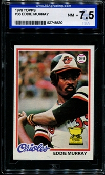 1978 Topps Baseball #36 Eddie Murray Rookie ISA 7.5 (NM+) *8530