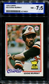 1978 Topps Baseball #36 Eddie Murray Rookie ISA 7.5 (NM+) *8531