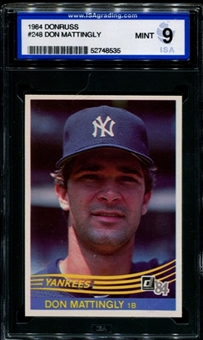 1984 Donruss Baseball #248 Don Mattingly Rookie ISA 9 (MINT) *8535