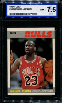 1987/88 Fleer Basketball #59 Michael Jordan ISA 7.5 (NM+) *8536