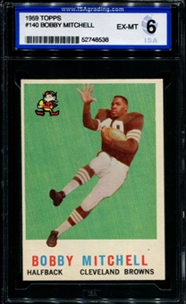 1959 Topps Football #140 Bobby Mitchell Rookie ISA 6 (EX-MT) *8538