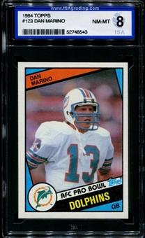 1984 Topps Football #123 Dan Marino Rookie ISA 8 (NM-MT) *8543