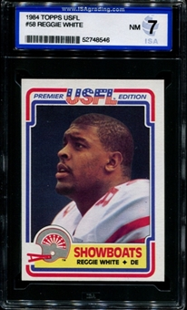 1984 Topps USFL Football #58 Reggie White Rookie ISA 7 (NM) *8546