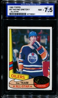1980/81 Topps Hockey #87 Wayne Gretzky All-Star ISA 7.5 (NM-MT+) *8551