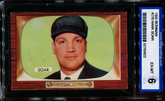 1955 Bowman Baseball #279 Hank Soar ISA 6 (EX-MT) *0622
