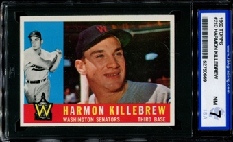 1960 Topps Baseball #210 Harmon Killebrew ISA 7 (NM) *0669