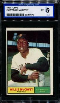1961 Topps Baseball #517 Willie McCovey ISA 5 (EX) *0675