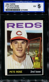 1964 Topps Baseball #125 Pete Rose ISA 5 (EX) *0685