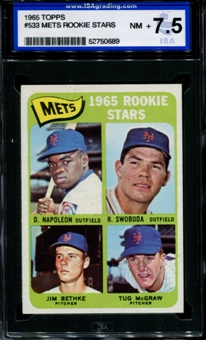 1965 Topps Baseball #533 Tug McGraw Rookie ISA 7.5 (NM+) *0689