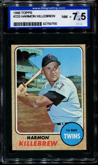 1968 Topps Baseball #220 Harmon Killebrew ISA 7.5 (NM+) *0700