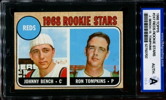1968 Topps Baseball #247 Johnny Bench Rookie ISA A (Authentic) *0702