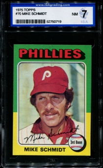 1975 Topps Baseball #70 Mike Schmidt ISA 7 (NM) *0719
