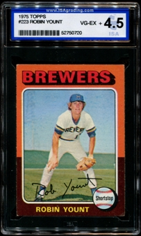 1975 Topps Baseball #223 Robin Yount Rookie ISA 4.5 (VG-EX+) *0720
