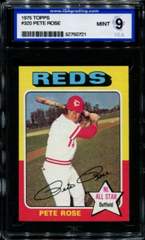 1975 Topps Baseball #320 Pete Rose ISA 9 (MINT) *0721