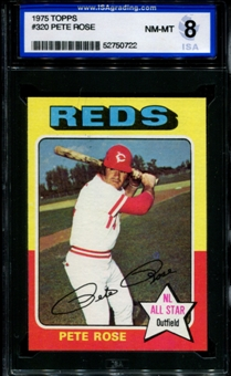 1975 Topps Baseball #320 Pete Rose ISA 8 (NM-MT) *0722