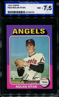 1975 Topps Baseball #500 Nolan Ryan ISA 7.5 (NM+) *0723