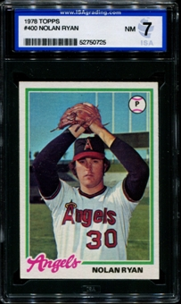 1978 Topps Baseball #400 Nolan Ryan ISA 7 (NM) *0725