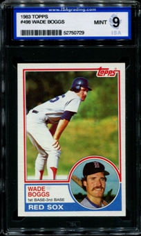 1983 Topps Baseball #498 Wade Boggs Rookie ISA 9 (MINT) *0729